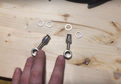 Come creare un tubo freno in treccia su misura
